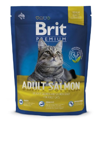 Корм Brit Premium Cat Adult Salmon (с лососем), 300 г Brit